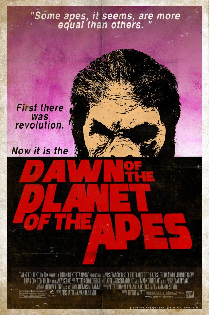 Dawn of the Planet of the Apes RIPOFF POSTER