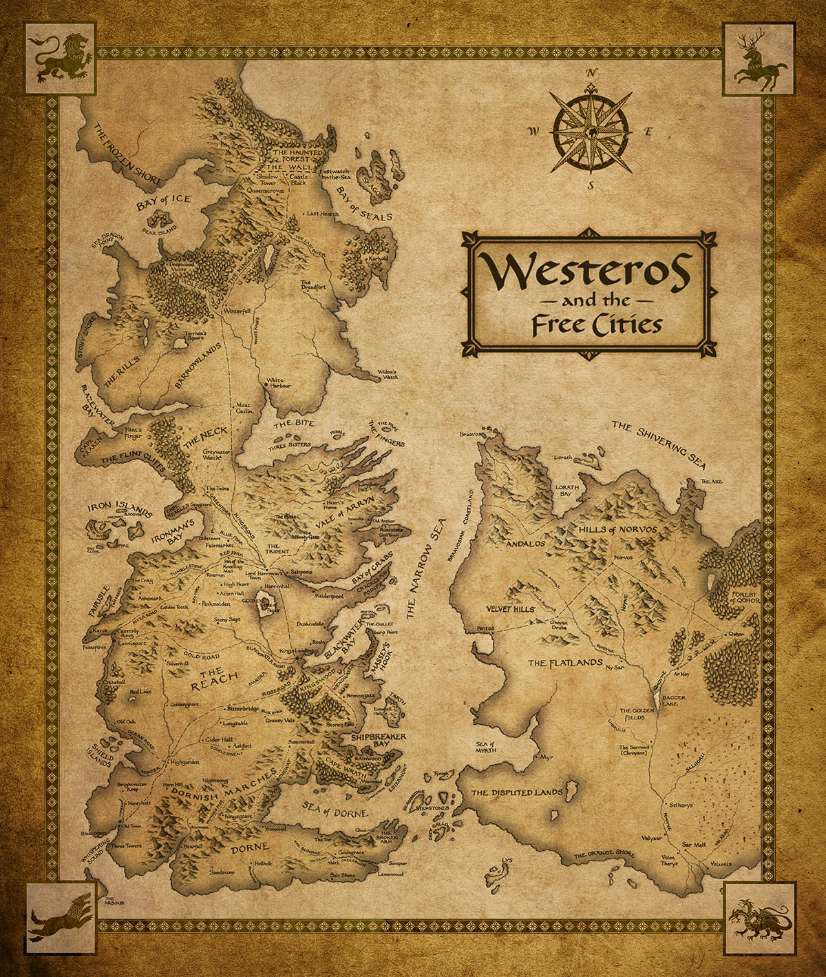 game of thrones seven kingdoms map quotes
