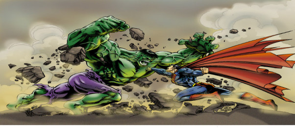 Superman vs Hulk slider