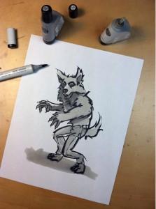 house of monsters werewolf art