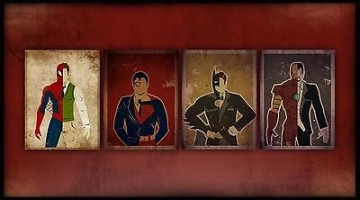 Comics-Heroes-Secret-Identities-Home-Decor-Canvas-Print