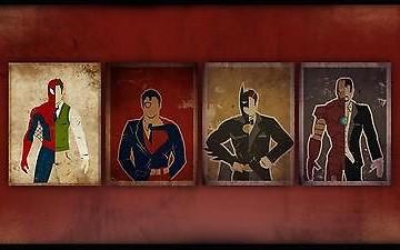 Comics-Heroes-Secret-Identities-Home-Decor-Canvas-Print